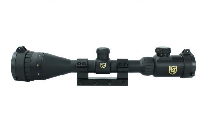 Оптический прицел Nikko Stirling серии AirKing 3-9x42 АО halfmil-dot с подсветкой, моноблок призма 11мм