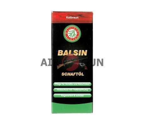 Средство для обработки дерева Balsin Schaftol (красно-бурый) 75 мл.