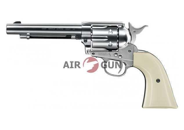 Пневматический пистолет Umarex Colt Single Action Army 45 nickel finish 4,5 мм