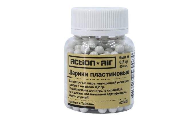 Шарики пластиковые 6 мм Action Air 0,2 гр (400 шт)(20400)