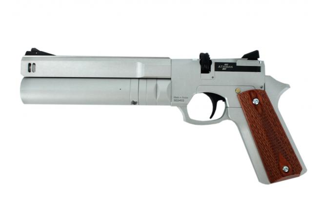 Пневматический пистолет Ataman АР16 компакт металл Silver 5,5 мм