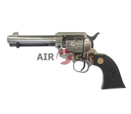 Сигнальный револьвер Colt Peacemaker M1873 хром