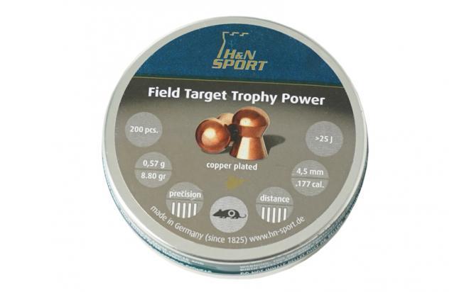 Пули пневматические H&N Field Target Trophy Power 4,5 мм 0,57 грамма (200 шт.)