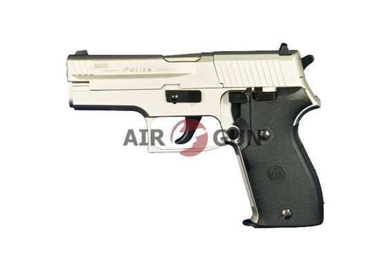 Пневматический пистолет Umarex Reck Police 4,5 мм (никель с черн. пласт.накладками)