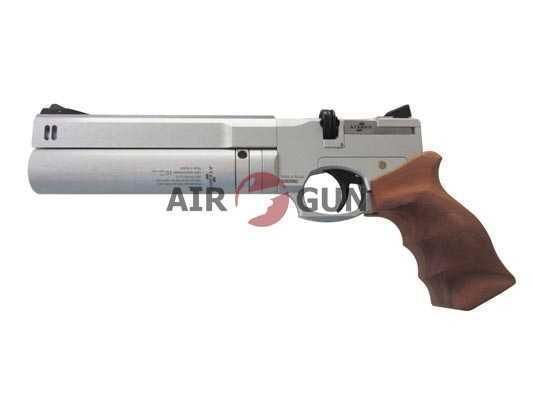Пневматический пистолет Ataman AP16 Silver компакт дерево 4,5 мм