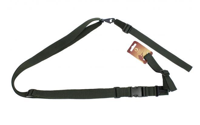 Ремень Vektor Р-26 для ружей (тактический трехточечный, зел., без плечевой накладки, синтетика)