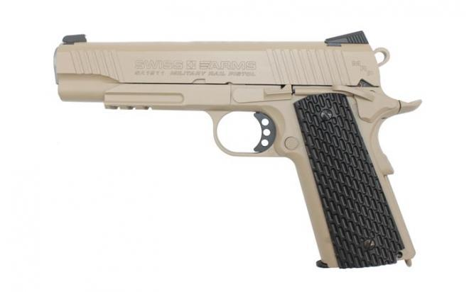 Пневматический пистолет Swiss Arms SA1911 Military Rail Pistol blowback (288507) 4,5 мм