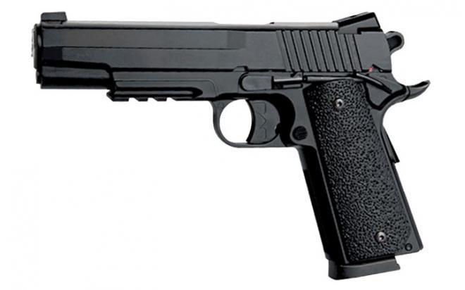 Пневматический пистолет KWC KM-42 ZDHN (Colt 1911) metal slide 4,5 мм