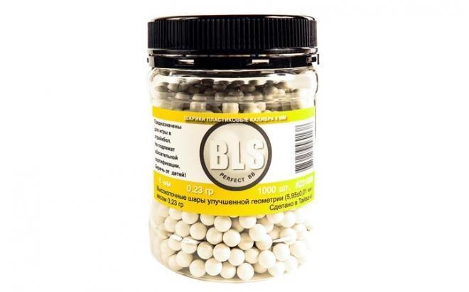 Шарики пластиковые 6 мм BLS 0,23 гр белые (1000 шт)
