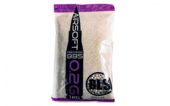 Шарики пластиковые 6 мм BLS 0,2 гр белые (1 кг)