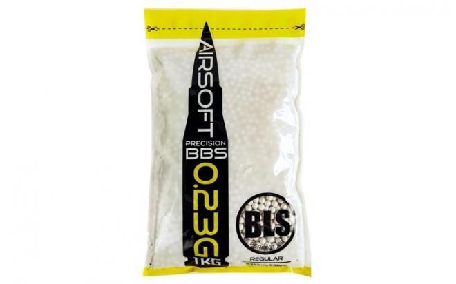 Шарики пластиковые 6 мм BLS 0,23 гр белые (1 кг)