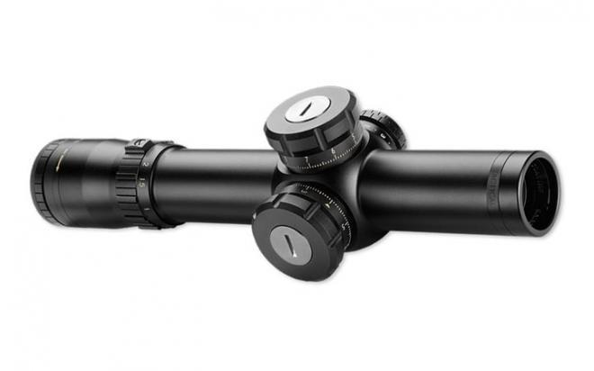 Оптический прицел Bushnell ELITE TACTICAL SMRS 1-8,5х24, 34 мм., сетка BTR-2, подсв.(+NV), красн., FFP, клик=0,1MIL, черный