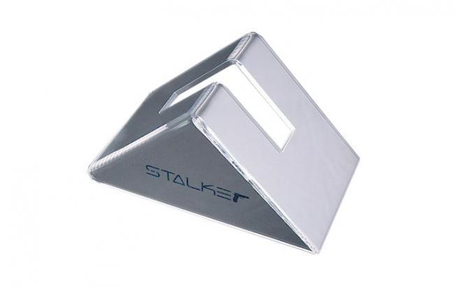 Подставка для пистолетов Stalker (треугольник, пластик, прозрачный, логотип STALKER)
