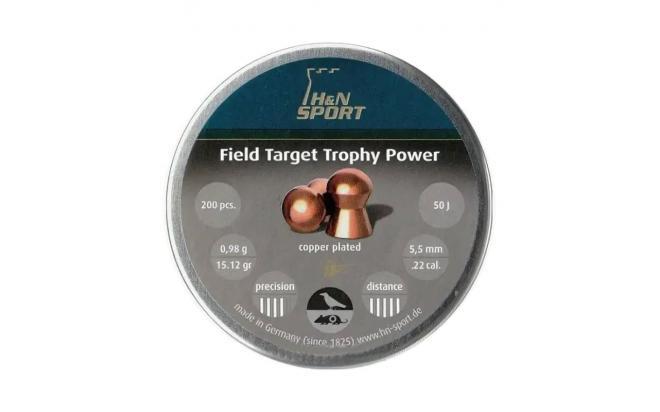 Пули пневматические H&N Field Target Trophy Power 5,5 мм 0,95 грамма (200 шт.)