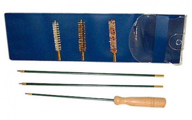 Набор для чистки оружия 16 калибр (шомпол металлический, в прозрачной пластиковой упаковке)