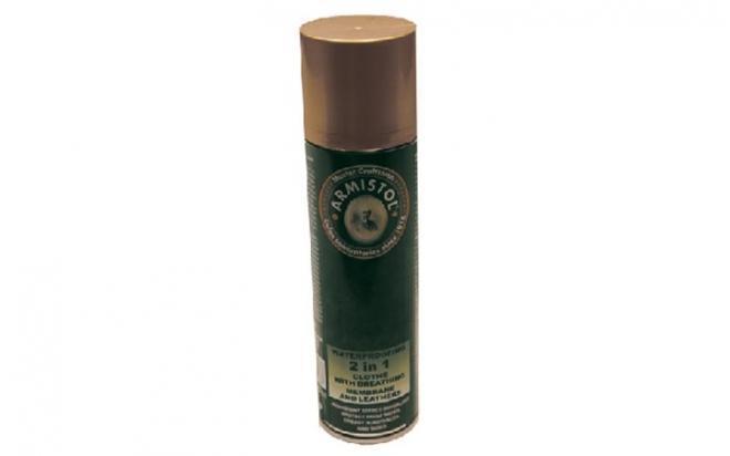 Универсальная защита одежды от воды и грязи Armistol 2в1 (для ткани и кожи, аэрозоль, 250 мл)