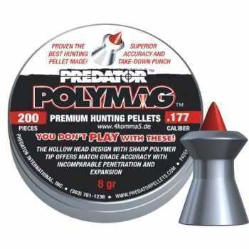 Пули пневматические PREDATOR POLYMAG 4,5мм 8 гран (200 шт.)