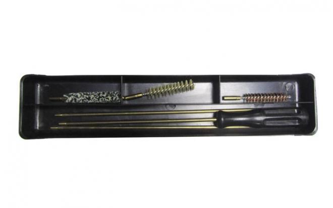 Набор для чистки карабинов и пистолетов кал 9 мм (латун.шомпол 4 мм)