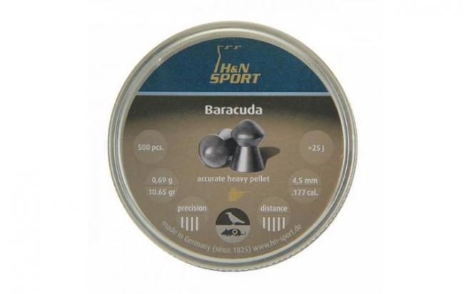 Пули пневматические H&N Baracuda 4,5 мм 10,65 гран (500 шт.)