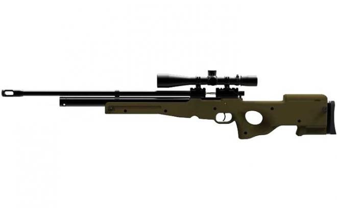 Пневматическая винтовка Ataman M2R Тактик Тип II 5,5 мм (Зелёный)(магазин в комплекте)