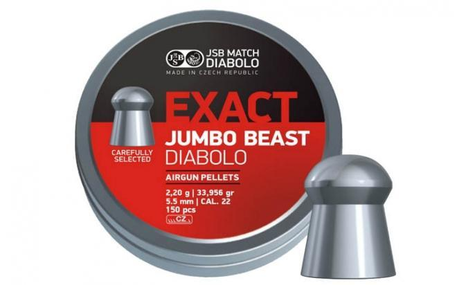 Пули пневматические JSB Exact Jumbo Beast 5,52 мм 2,2 гр (150 шт.)