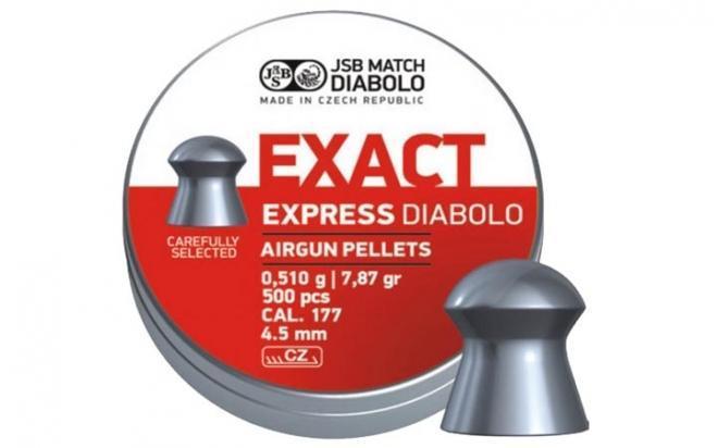 Пули пневматические JSB Exact Express 4,52 мм 0,51 гр (500 шт.)
