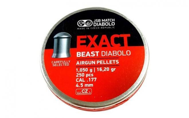 Пули пневматические JSB Exact Beast 4,52 мм 1,05 гр (250 шт.)