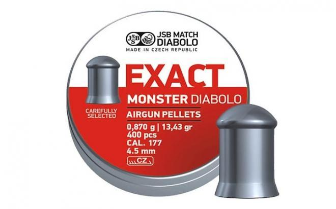 Пули пневматические JSB Exact monster diablo 4,5 мм 0,87 гр (400 шт.)