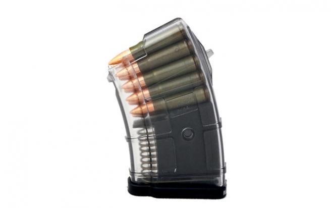 Магазин Pufgun ВПО-133/Сайга-МК/М (10 патронов, полимер, прозрачный, 102 гр)