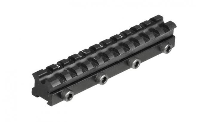 Кронштейн UTG Weaver для призмы 9-11 мм с наклоном, 2 упора отдачи