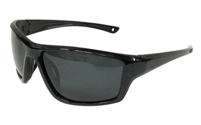 Очки поляризационные PMX (линзы поликарбонат серые, оправа черный глянец)