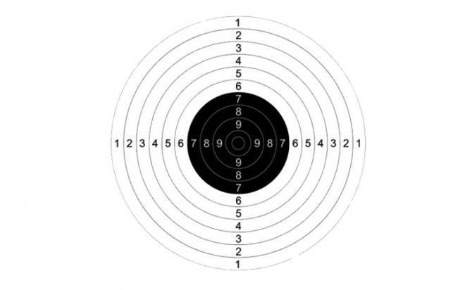 Мишень №9 170х170 мм