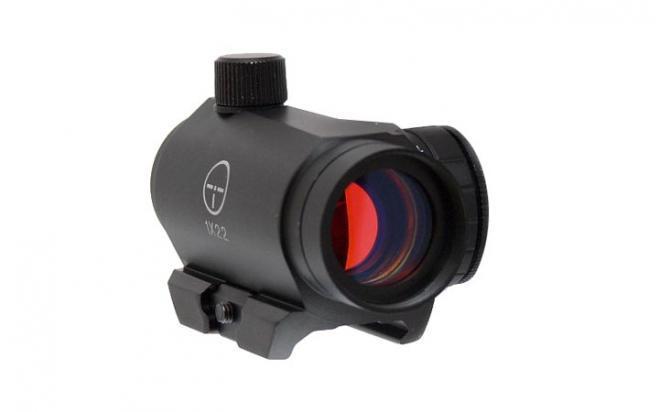 Коллиматорный прицел Target Optic 1х22 закрытого типа на Weaver, красная точка