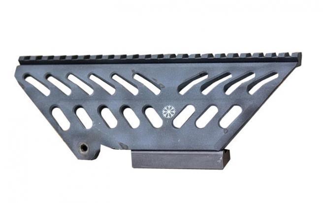 Кронштейн Манта-2 планка Picatinny на оружие типа Тигр/СВД (боковой высокий, наклон 30 МОА)