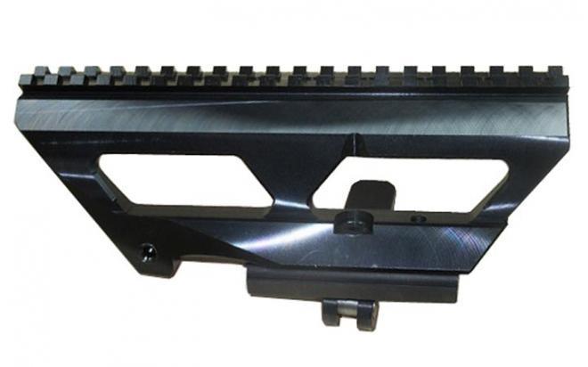 Кронштейн Манта-1 планка Picatinny на оружие типа Тигр/СВД (боковой низкий наклон, 30МОА)