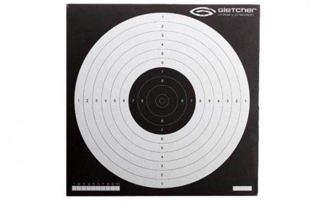 Мишень для пневматики 170х170 мм (логотип Gletcher, 50 шт.)