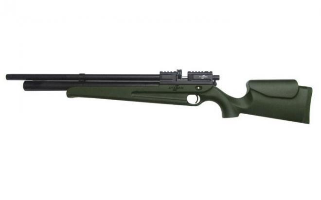Пневматическая винтовка Ataman M2R Карабин укороченная 5,5 мм (Зелёный)(магазин в комплекте)(135C/RB)
