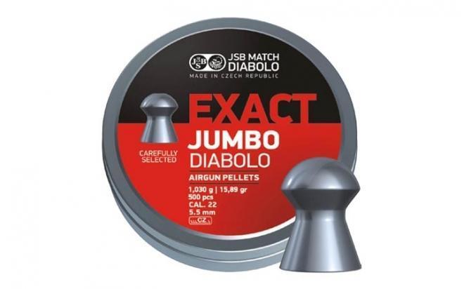 Пули пневматические JSB Exact Jumbo 5,5 мм 1,030 грамма (500 шт.)