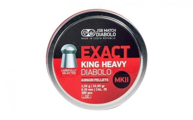 Пули пневматические JSB Exact King Heavy MKII 6,35 мм 2,2 грамма (300 шт.)