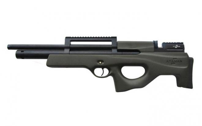 Пневматическая винтовка Ataman SL Булл-пап 5,5 мм (Зелёный)(магазин в комплекте)(435C/RB-SL)
