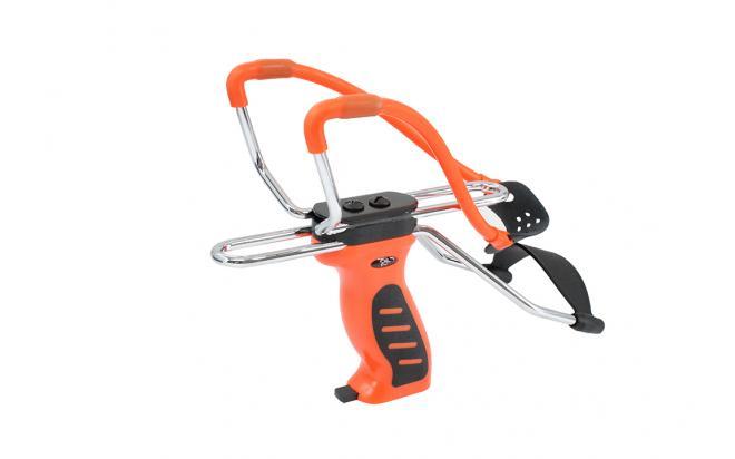 Рогатка с упором и прицелом, магазин в рукоятке, оранжевая (MK-SL06-O)