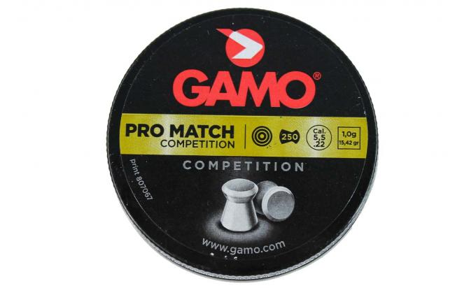 Пули пневматические GAMO Pro Match 5,5 мм (250 шт.)