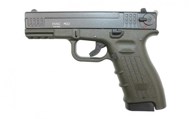 Оружие списанное охолощенное К-17-СО (зеленый) под патр.св/звук.дейст.кал.10ТК (КУРС-С)