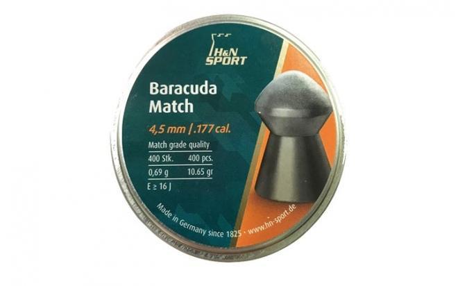 Пули пневматические H&N Baracuda Match 4,51 мм 0,69 грамм (400 шт.)