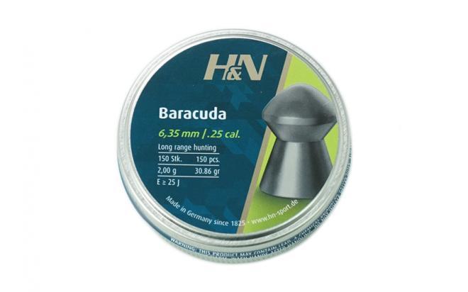 Пули пневматические H&N Baracuda 6,35 мм 2,01 грамма (150 шт.)
