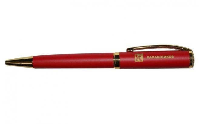 Ручка Калашников Прочность (шариковая, красная с золотом)