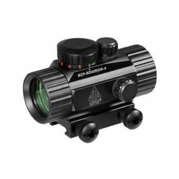 Коллиматорный прицел Leapers 1x30 Weaver, подсветка точка зеленая/красная (SCP-RD40RGW-A)