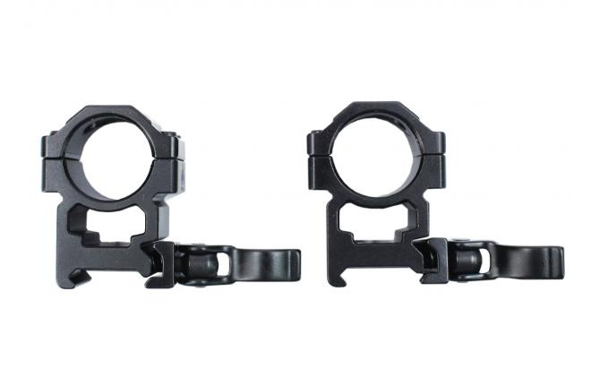 Кольца Leapers UTG 25,4 мм быстросъёмные на Picatinny с рычажным зажимом высокме (RQ2W1204)