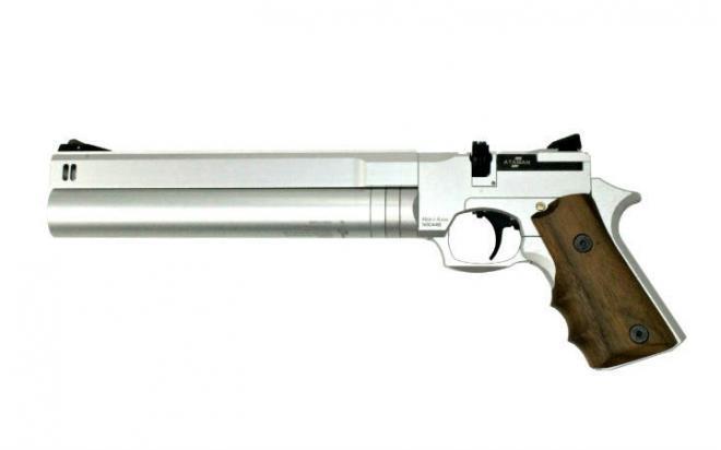 Пневматический пистолет Ataman AP16 Silver стандарт металл 4,5 мм