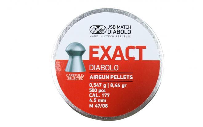 Пули пневматические JSB Exact Diabolo 0,547 г (8,44 гр) 4,5 мм (500 шт)